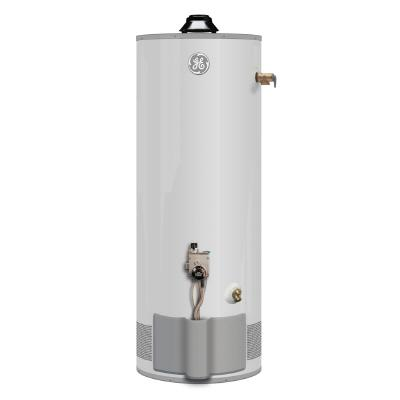 What efficiencies offered by 40 gallon electric water heater? Electricity burns water hotter than gas does because gas loses a lot of energy out of the ventilation shaft.