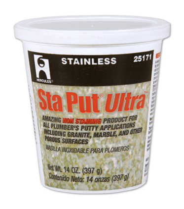 Hercules sta put ultra plumber s putty review for Plumbers putty