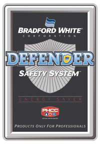 bradford white defender label