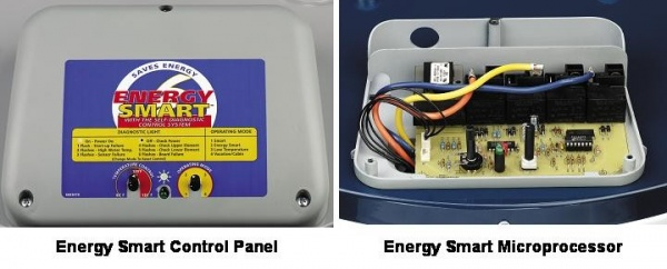 Photo shows electronic control board. Do not operate water heater if control board, elements or heat sensors get wet. All electric water heaters carry risk of