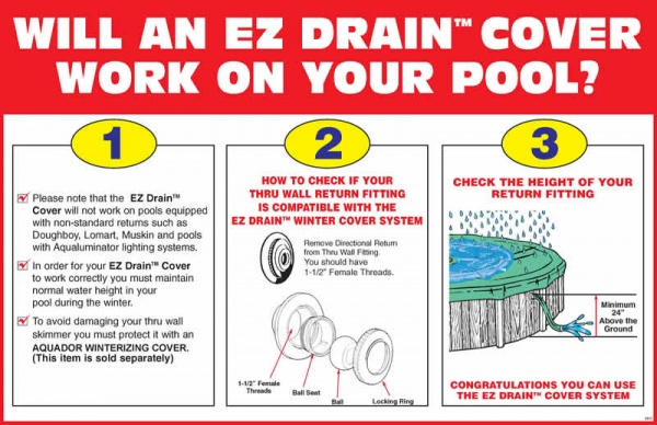 Ez Drain Above Ground Pool Cover Installation