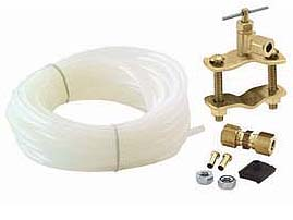 Icemaker Supply Kit with Plastic Tube and Saddle Valve