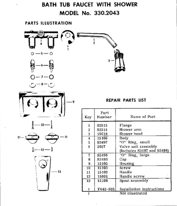 Tub & Shower Faucet Repair Parts - Faucet888.com