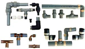 Grey Plastic Water Line Fittings In Mobile Homes