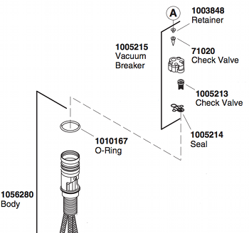 Kohler Fairfax K 12177 Vacuum Breaker Comments on  Forte Faucet Troubleshooting Repair Guide