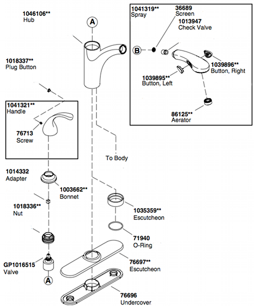 kohler k 10433 kitchen faucet parts diagram - Kitchen Sink Faucet Parts Diagram