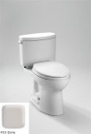 TOTO CST454CEFG#03 Drake II Two-Piece Toilet 1.28 GPF with SanaGloss, Bone