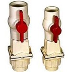 Zoeller 30-0100 1 1:2in. PVC Tri-Check Check Valve:Ball Valve: Union Combination