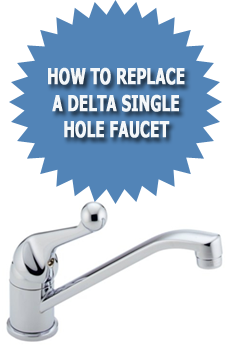 how to replace a delta kitchen faucet delta single faucet faucets reviews 27824